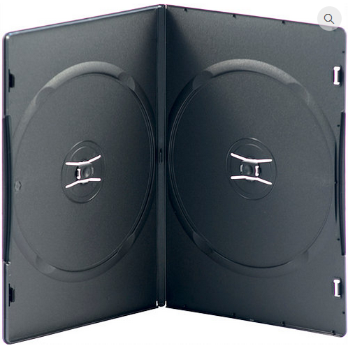 Slimline Double DVD Case – Black